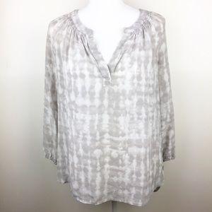Max Studio | 100% silk blouse tie dye size medium